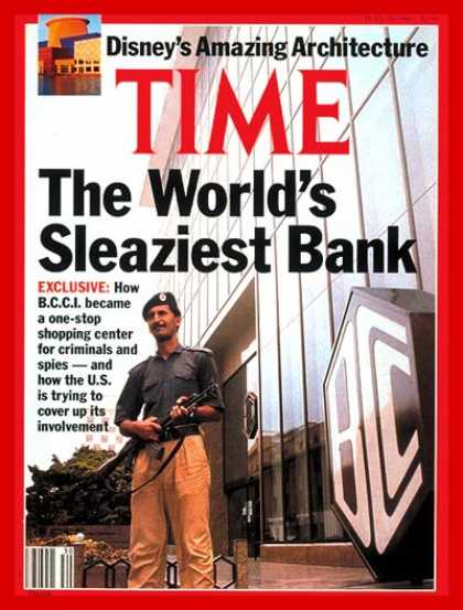 Time - The B.C.C.I. Scandal - July 29, 1991 - Scandals - Banking