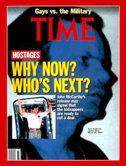 Time - John McCarthy & Terry Anderson - Aug. 19, 1991 - Terrorism
