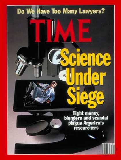 Time - Science Under Seige - Aug. 26, 1991 - Science & Technology