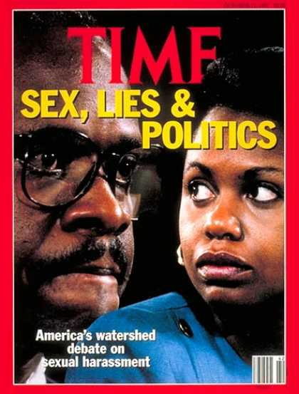 Time - Anita Hill & Clarence Thomas - Oct. 21, 1991 - Supreme Court - Scandals - Women