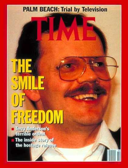 Time - Terry Anderson - Dec. 16, 1991 - Hostages - Politics