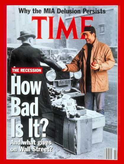 Time - The Recession - Jan. 13, 1992 - Recession - Economy
