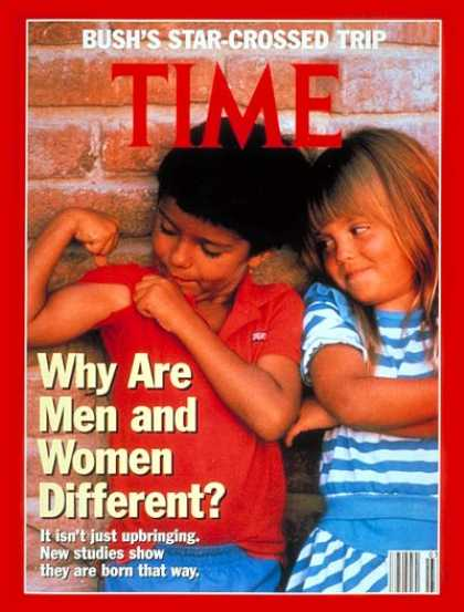 Time - Why Are Men and Women Different? - Jan. 20, 1992 - Women - Society