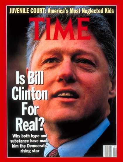 Time - Bill Clinton - Jan. 27, 1992 - Presidential Elections - Governors - Arkansas