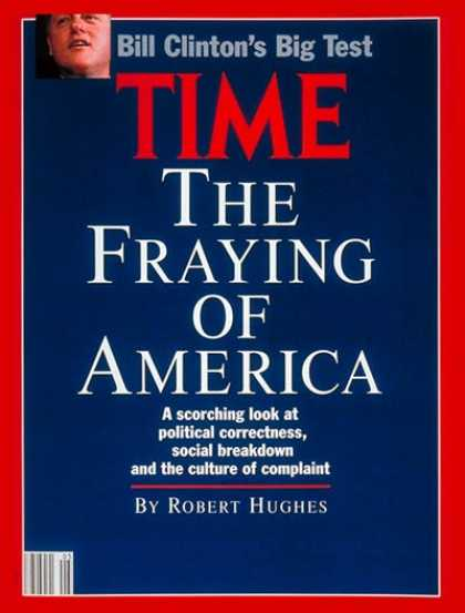 Time - The Fraying of America - Feb. 3, 1992 - Society