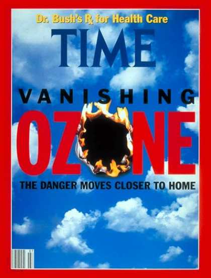 Time - Vanishing Ozone - Feb. 17, 1992 - Weather - Global Warming - Environment