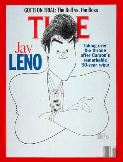 Time - Jay Leno - Mar. 16, 1992 - Television - Talk Shows - Most Popular - Comedy