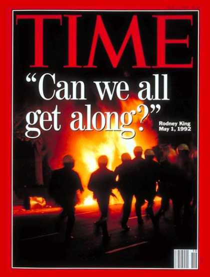 Time - Los Angeles Riots - May 11, 1992 - Social Unrest - Los Angeles - Law Enforcement