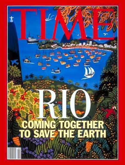 Time - World Conservation Summit - June 1, 1992 - Weather - Global Warming - Environmen