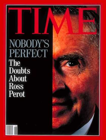 Time - H. Ross Perot. - June 29, 1992 - H. Ross Perot - Politics