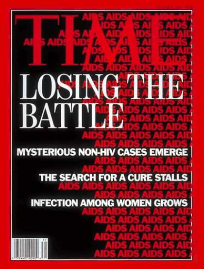 Time - AIDS Epidemic - Aug. 3, 1992 - AIDS - Illness & Disease - Disease - Health & Med
