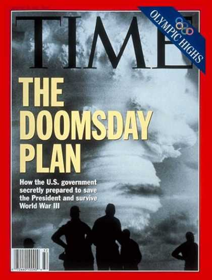 Time - Doomsday Plan - Aug. 10, 1992 - Nuclear Weapons - Weapons - Cold War