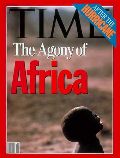 Time - Agony of Africa - Sep. 7, 1992 - Africa - Hunger - Poverty - Children