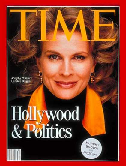 Time - Candice Bergen - Sep. 21, 1992 - Television - Actresses - Politics