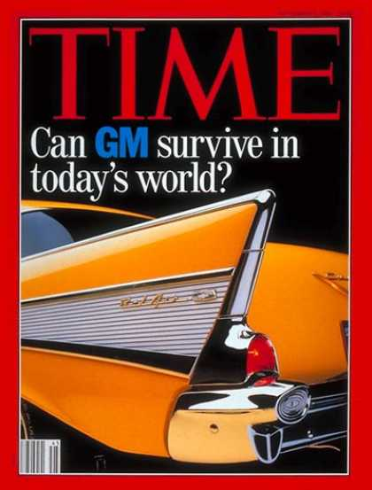 Time - Can GM Survive? - Nov. 9, 1992 - Cars - Automotive Industry - Transportation - B