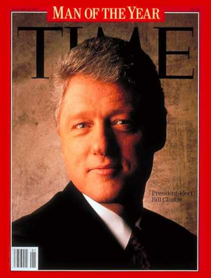 Time - Bill Clinton, Man of the Year - Jan. 4, 1993 - Bill Clinton - Person of the Year