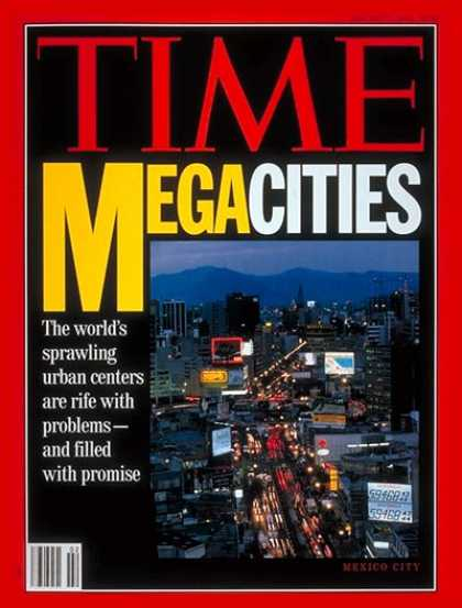 Time - Problems of Megacities - Jan. 11, 1993 - Cities - Society - Urban Planning