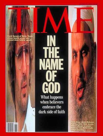 Time - David Koresh & Sheik Omar Abdel Rahman - Mar. 15, 1993 - David Koresh - Cults -