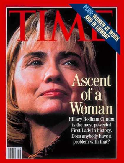 Time - Hillary Rodham Clinton - May 10, 1993 - Hillary Clinton - First Ladies - Politic