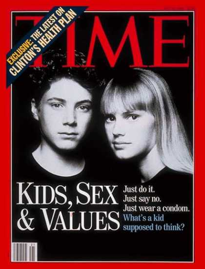 Time - Kids, Sex & Values - May 24, 1993 - Children - Sex - Education - Society - Teens