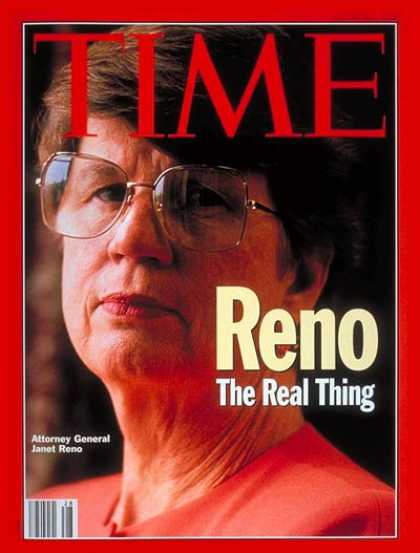 Time - Janet Reno - July 12, 1993 - Politics - Waco - Cults