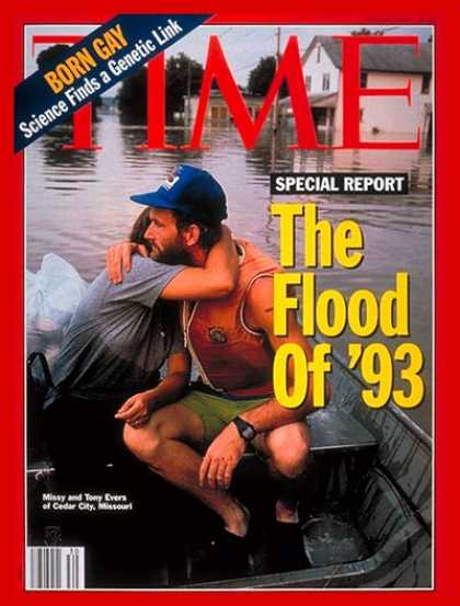 Time - Floods in the Midwest - July 26, 1993 - Natural Disasters - Weather - Floods - E