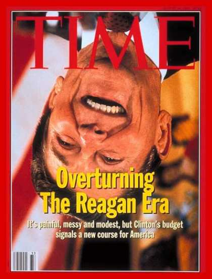 Time - Overturning Reaganomics - Aug. 16, 1993 - Ronald Reagan - Economy