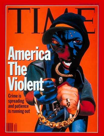 Time - America the Violent - Aug. 23, 1993 - Violence - Law Enforcement - Crime - Gun C