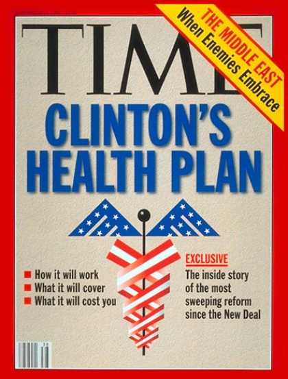 Time - Clinton's Health Plan - Sep. 20, 1993 - Bill Clinton - U.S. Presidents - Health