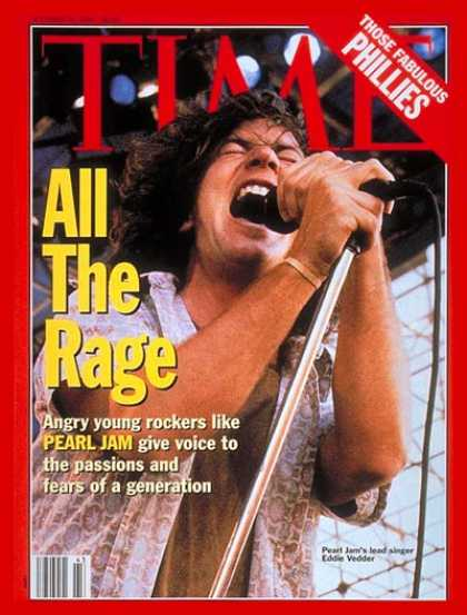 Time - Pearl Jam's Eddie Vedder - Oct. 25, 1993 - Rock - Singers - Music