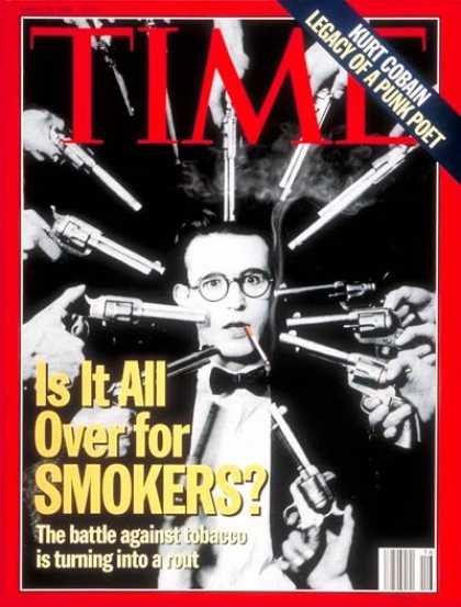 Time - Battle Against Tobacco - Apr. 18, 1994 - Smoking - Society - Tobacco - Health &