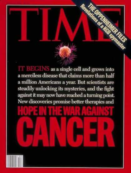 Time - Fighting Cancer - Apr. 25, 1994 - Cancer - Medical Research - Health & Medicine
