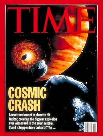 Time - Comet Hits Jupiter - May 23, 1994 - Astronomy - Planets - Comets - Science & Tec