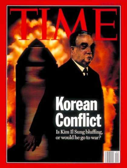 Time - Kim Il Sung - June 13, 1994 - North Korea - Nuclear Weapons - Weapons