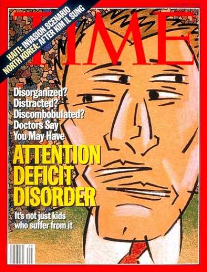 Time - Attention Deficit Disorder - July 18, 1994 - Society - Health & Medicine