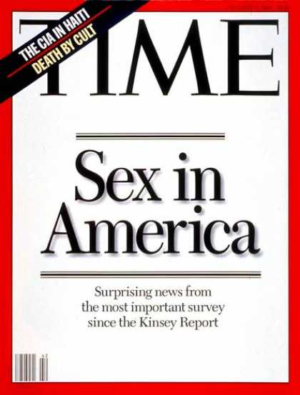 Time - Sex in America - Oct. 17, 1994 - Sex - Society