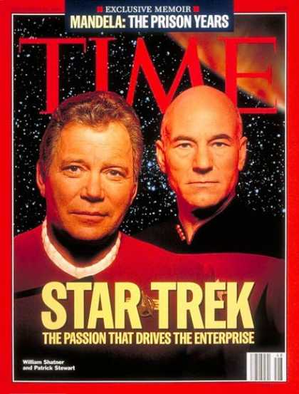 Time - William Shatner and Patrick Stewart - Nov. 28, 1994 - Actors - Television - Movi