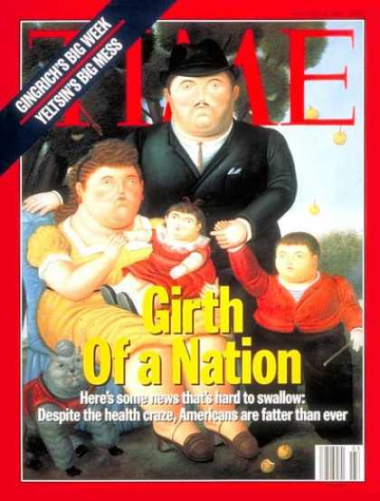 Time - Girth of a Nation - Jan. 16, 1995 - Food - Diets - Fitness - Health & Medicine