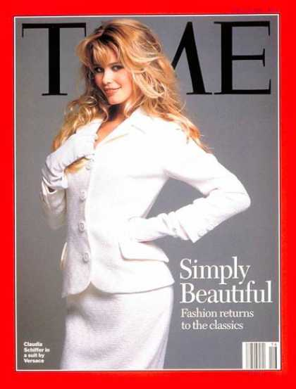 Time - Claudia Schiffer - Apr. 17, 1995 - Style - Fashion - Models