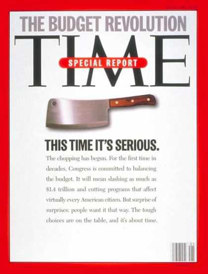 Time - The Budget Revolution - May 22, 1995 - Economy - Politics
