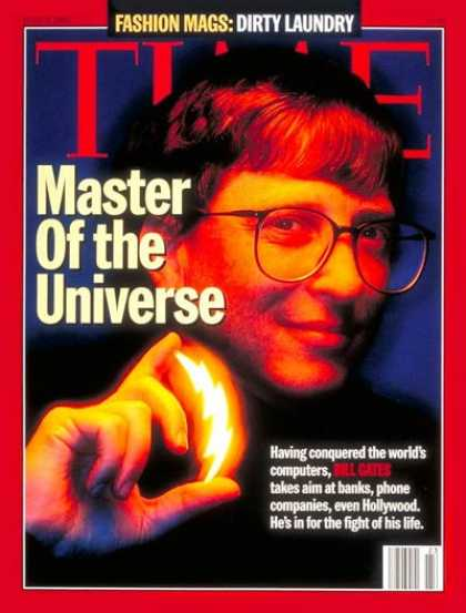 Time - Bill Gates - June 5, 1995 - Microsoft - Computers - Science & Technology