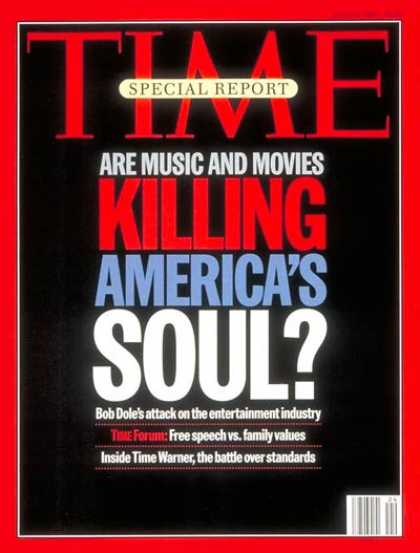 Time - Pop Culture and Values - June 12, 1995 - Popular Culture - Society
