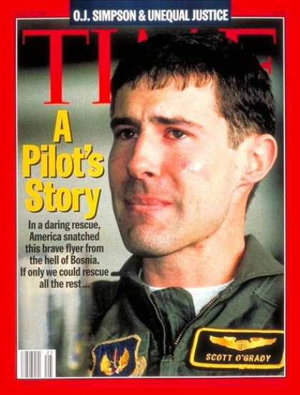 Time - Captain Scott O'Grady - June 19, 1995 - Air Force - Military