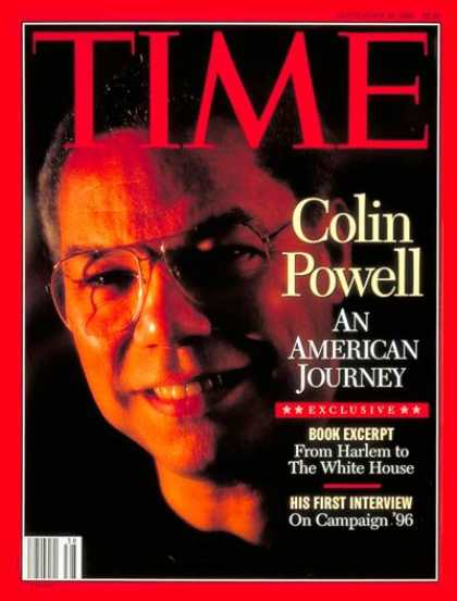 Time - Colin Powell - Sep. 18, 1995 - Military - Politics