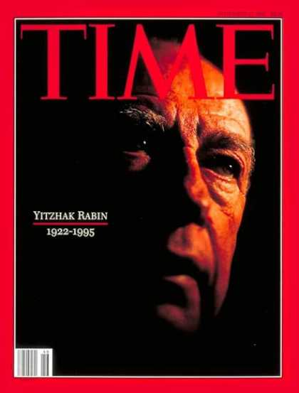 Time - Yitzhak Rabin - Nov. 13, 1995 - Israel - Middle East