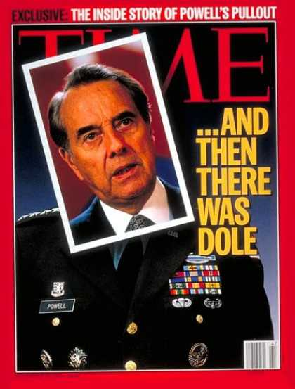 Time - Bob Dole - Nov. 20, 1995 - Presidential Elections - Politics