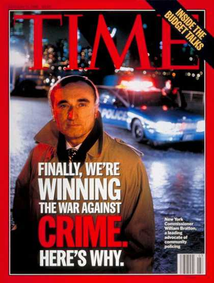 Time - William Bratton, New York City's Top Cop - Jan. 15, 1996 - New York - Law Enforc