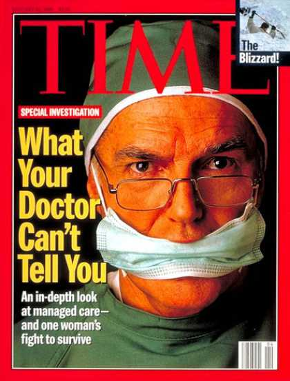 Time - What Your Doctor Can't Tell You - Jan. 22, 1996 - Society - Health & Medicine
