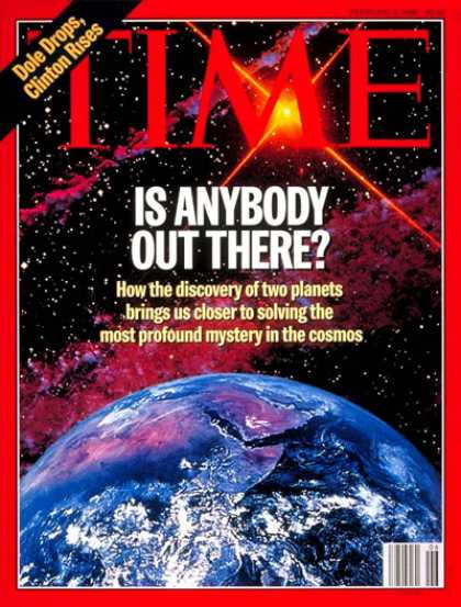 Time - Is There Anybody Out There? - Feb. 5, 1996 - NASA - Astronomy - Space Exploratio