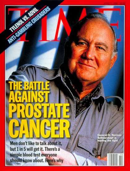 Time - Norman Schwarzkopf - Apr. 1, 1996 - Cancer - Disease - Health & Medicine